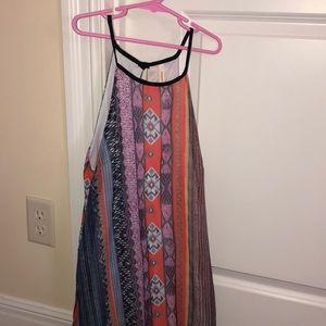 patterned blouse dress